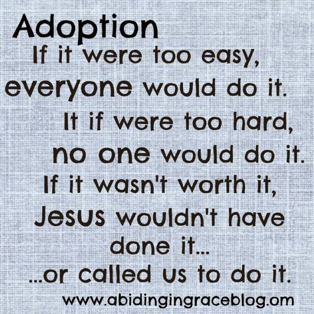 Called to adopt